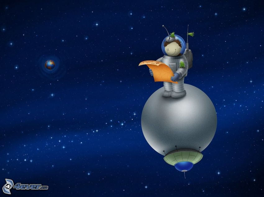 astronaute, univers, planète Terre