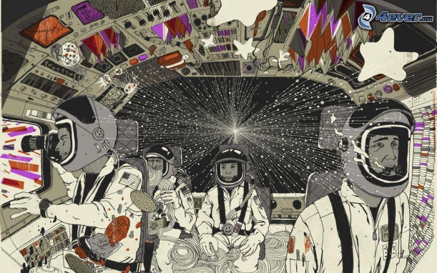 astronautes, vaisseau spatial