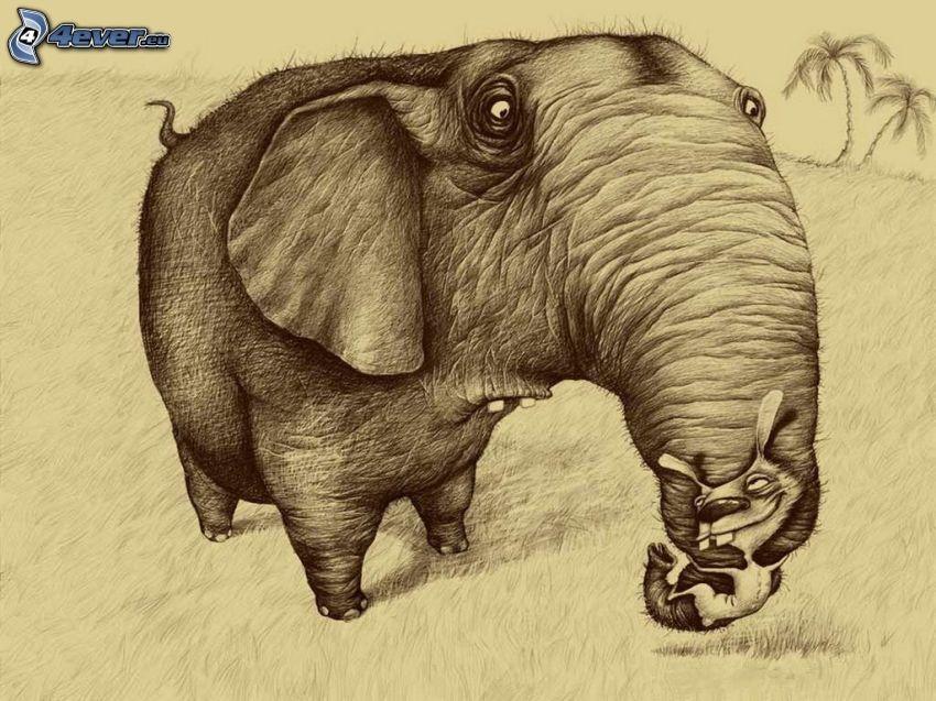 éléphant, parodie