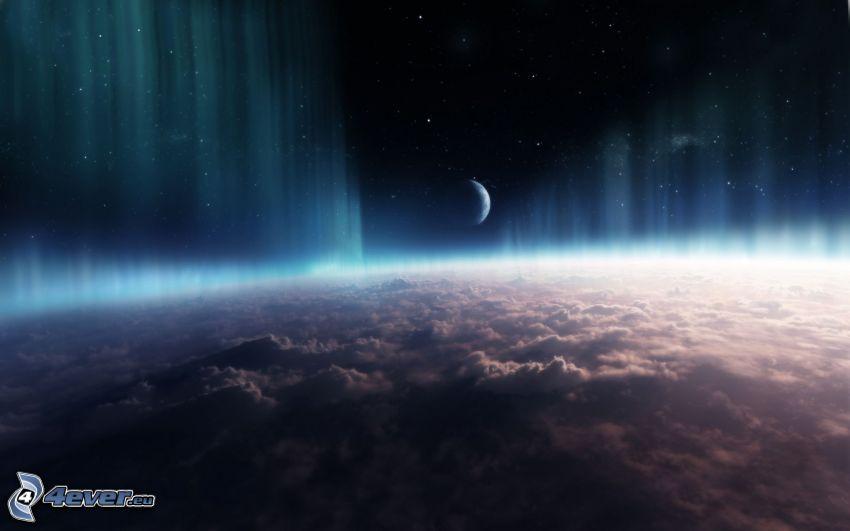 au-dessus des nuages, planète