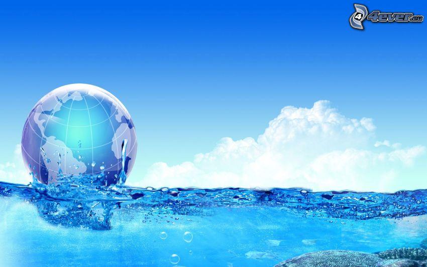 eau, Terre, nuages, ciel