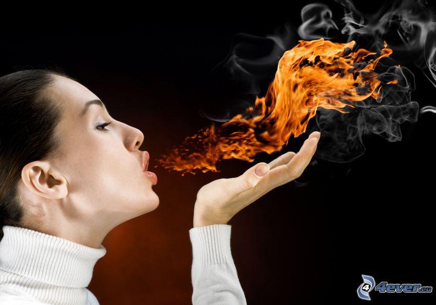 femme, flamme