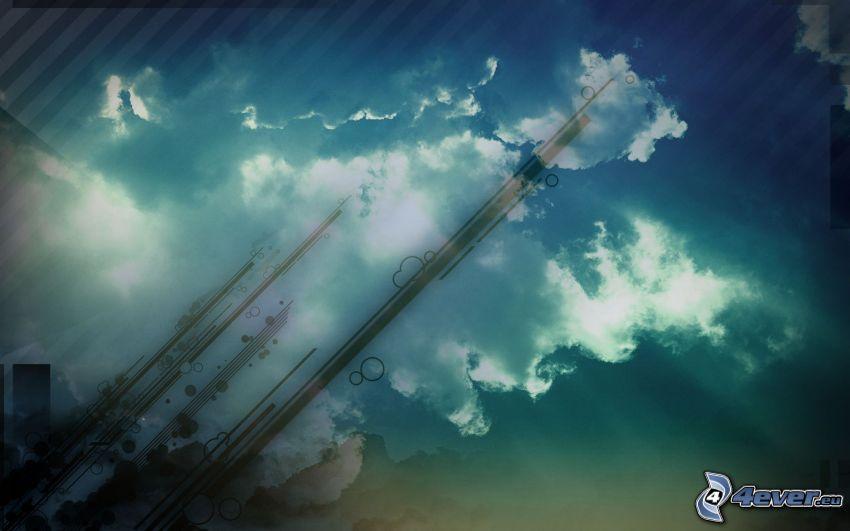 nuages, bandes
