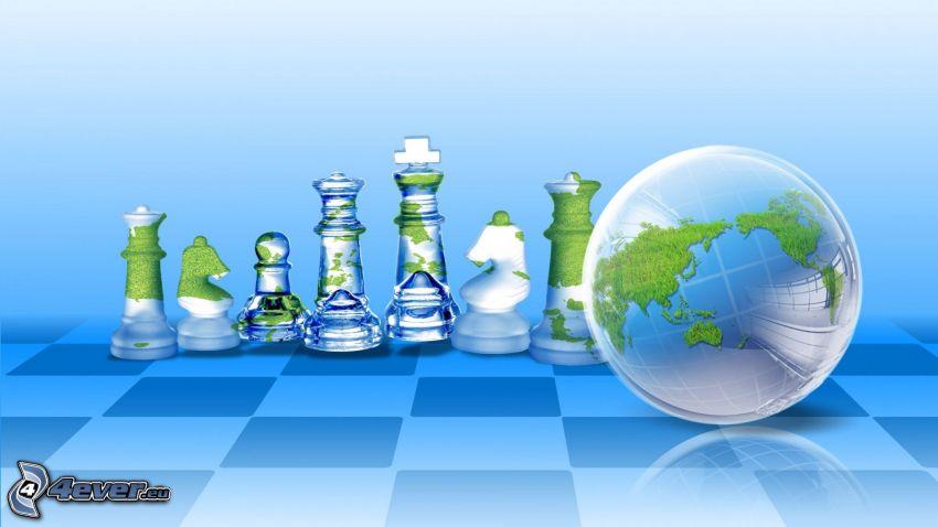 pièces d'échecs, Terre