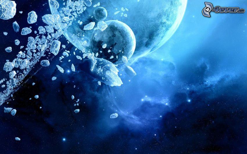 planètes, astéroïdes