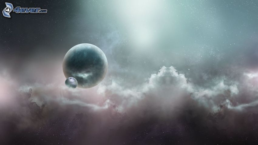 planètes, nuages