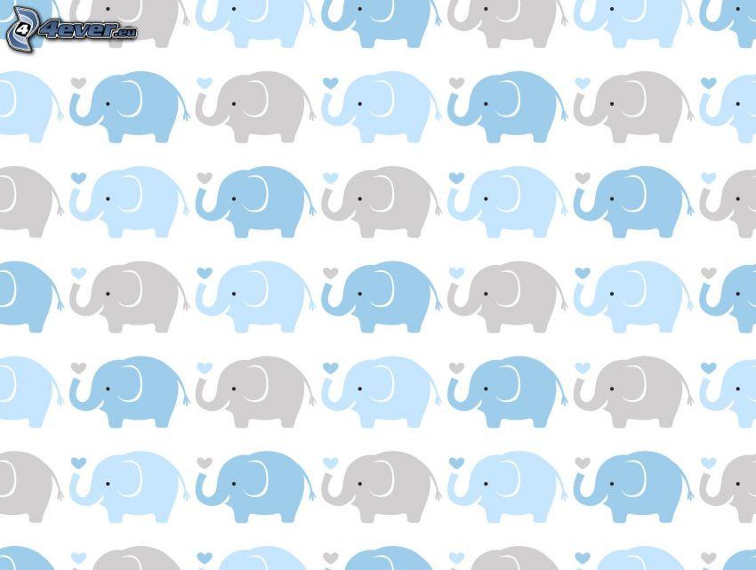 éléphants dessinés