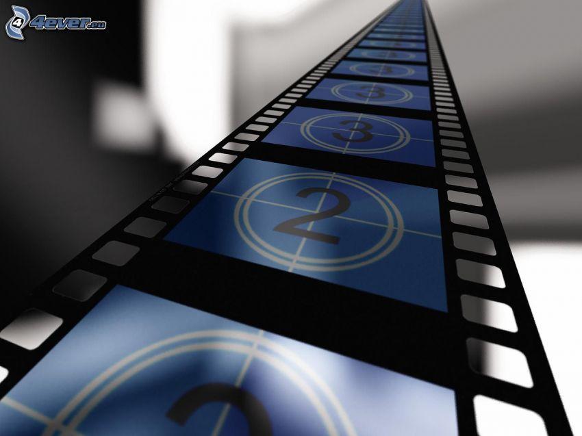 filmstrip, numéros