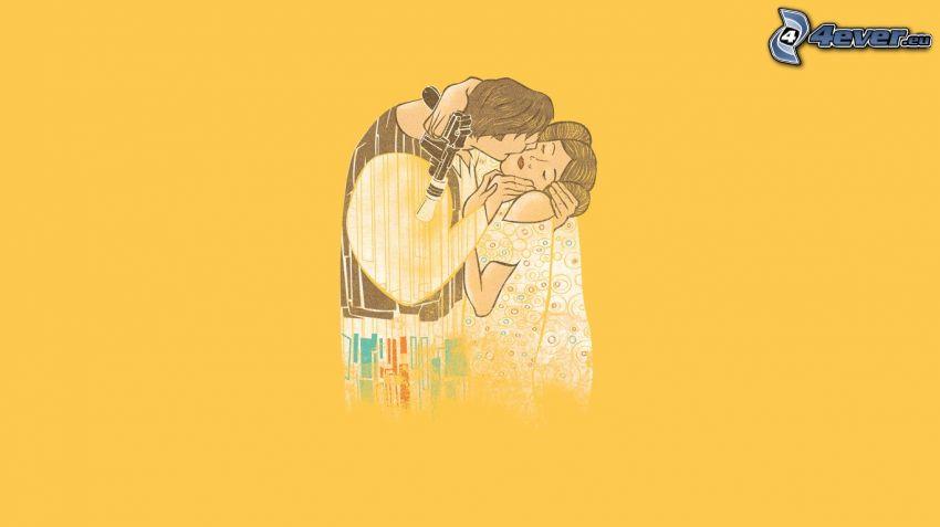 homme et femme, baiser