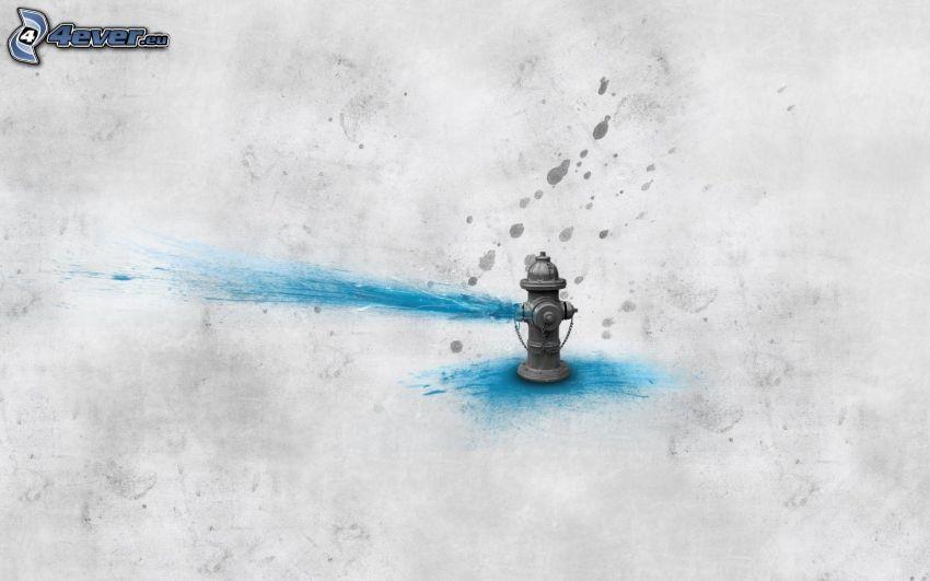 hydrant, jet d'eau, l'irrigation, dessin animé