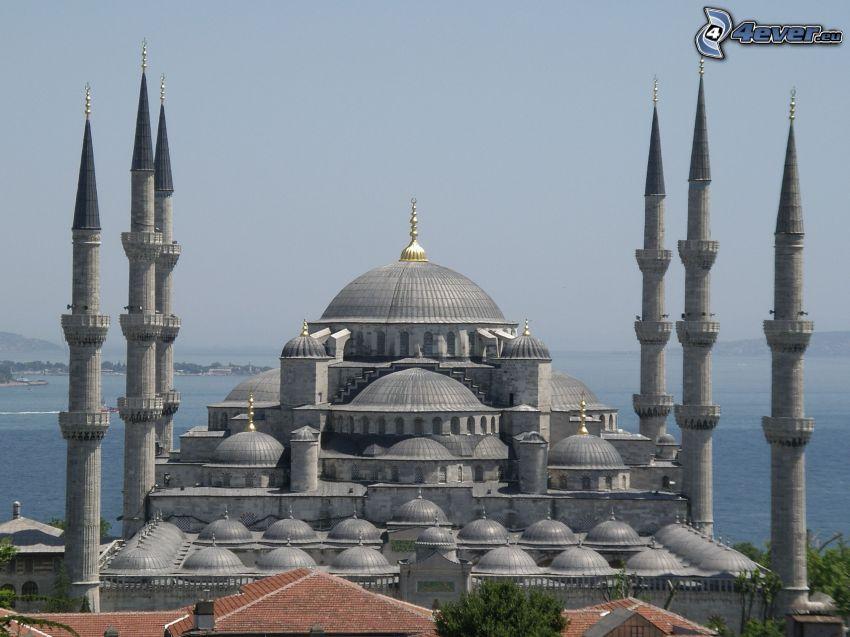 La Mosquée bleue, Hagia Sofia, mer