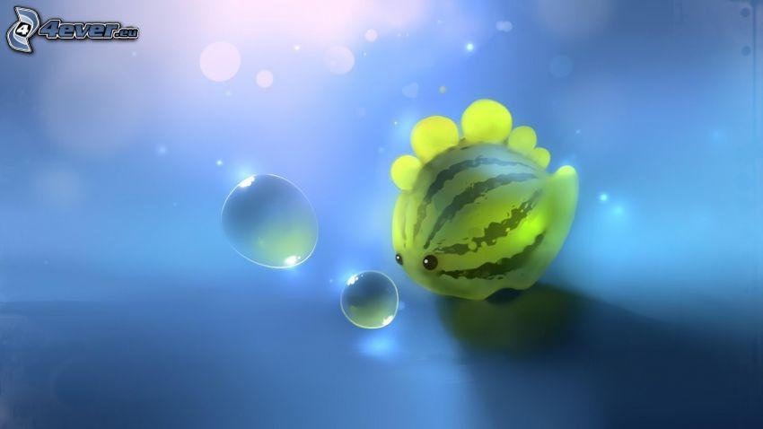 pastèque, bulles
