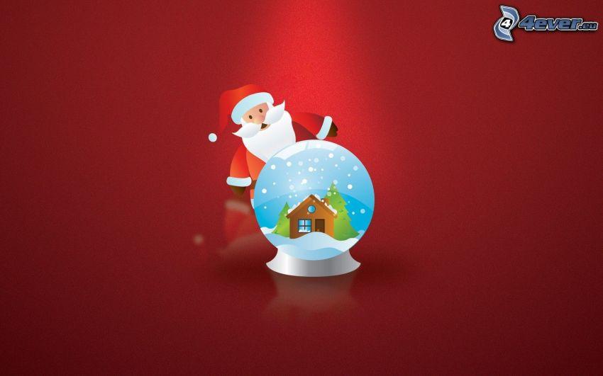 Père Noël, sphère de verre