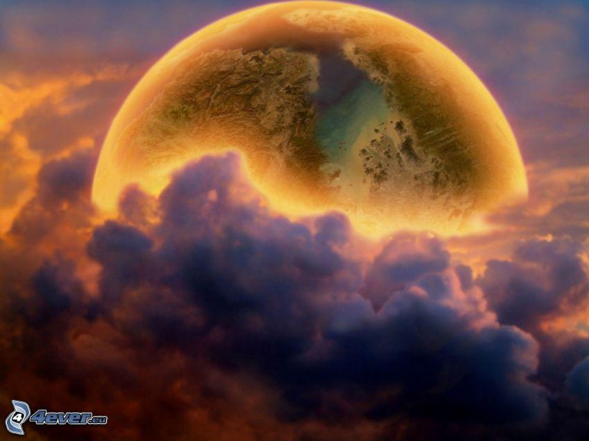 planète, nuages