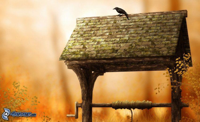 puits, le corbeau