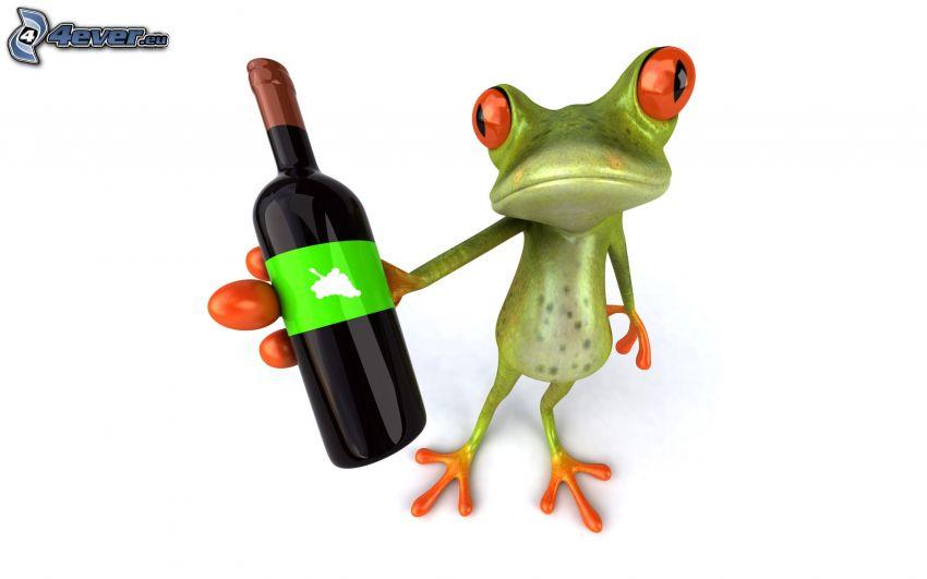 rainette, vin, bouteille