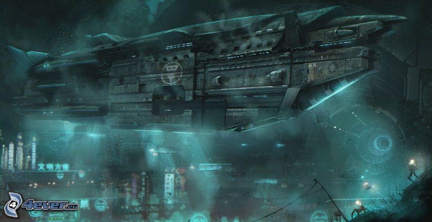 sci-fi, vaisseau spatial