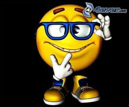 smile, lunettes