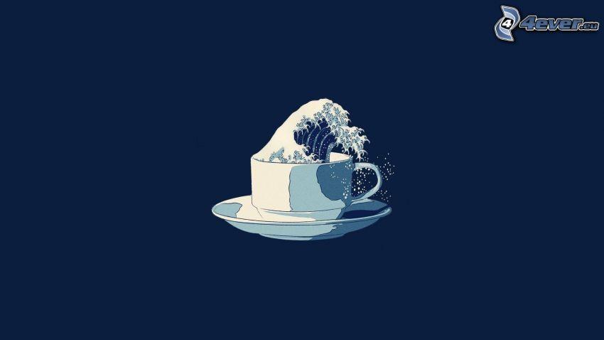 tasse, vague