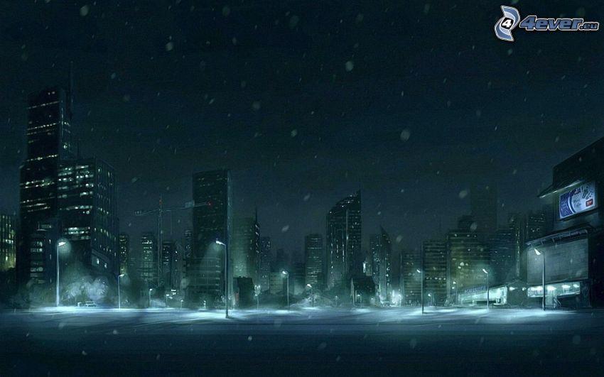 ville dans la nuit