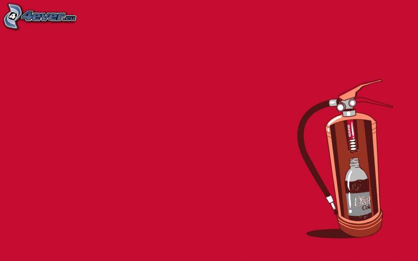 extincteur d'incendie, Mentos, Coca Cola