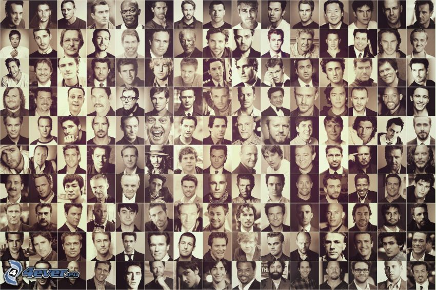 acteurs, noir et blanc, photos
