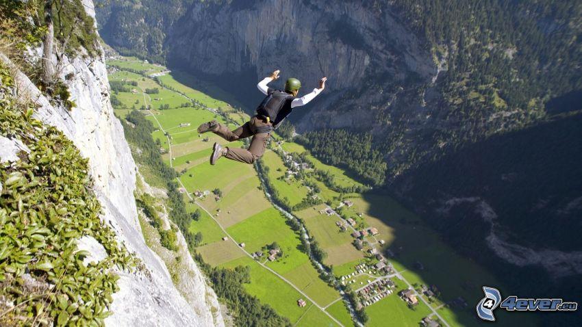 BASE Jump, vallée