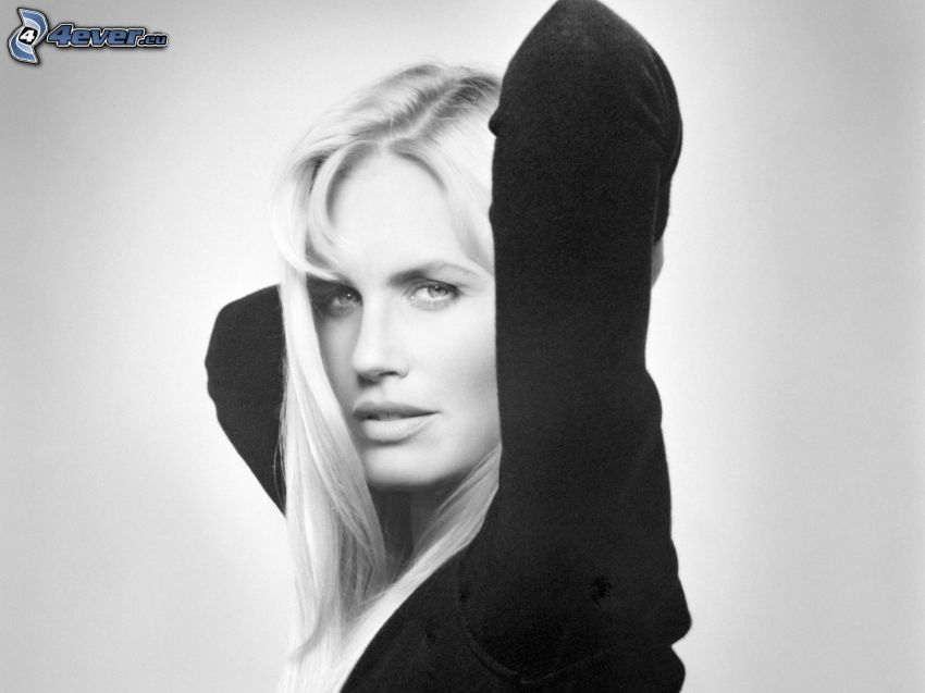 Daryl Hannah, photo noir et blanc