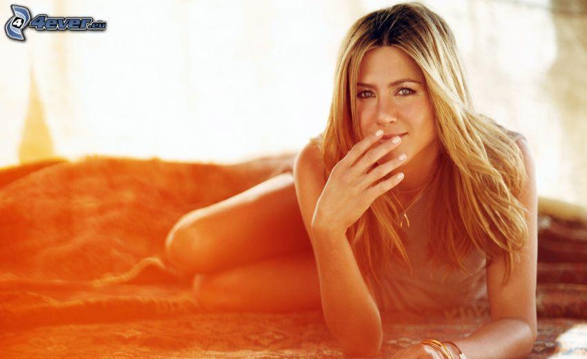 Jennifer Aniston, coucher du soleil