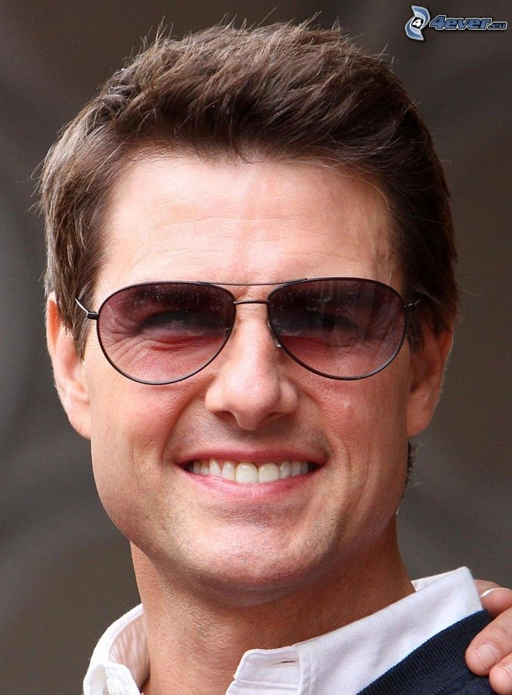 Tom Cruise, homme avec des lunettes, lunettes de soleil, sourire 471e84719dc2