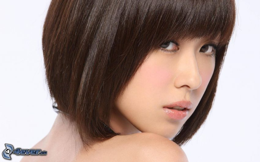 femme chinoise, brune