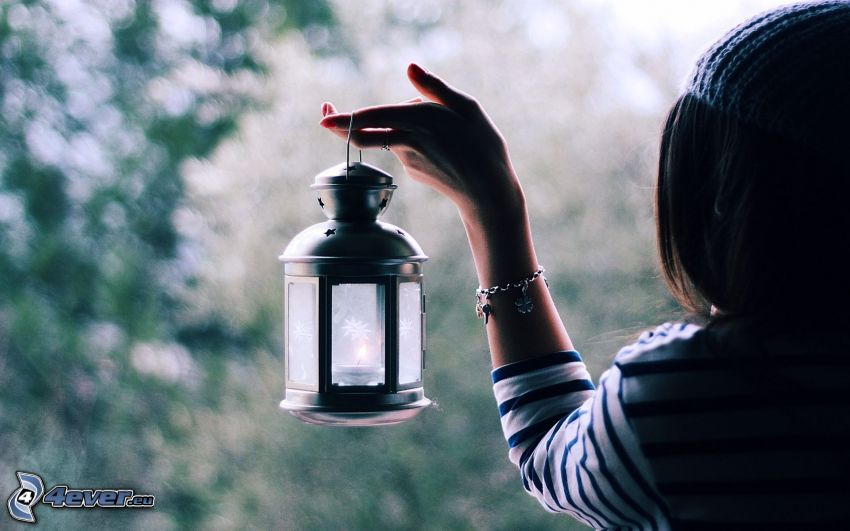 brune, lampe