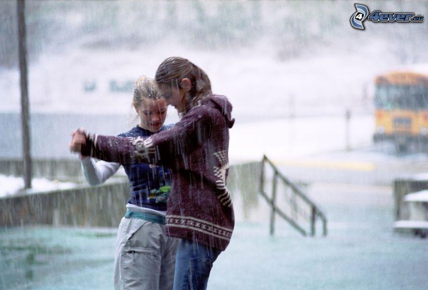 danse sous la pluie