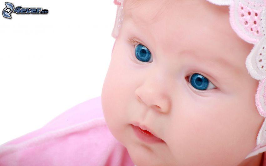 enfant yeux bleu