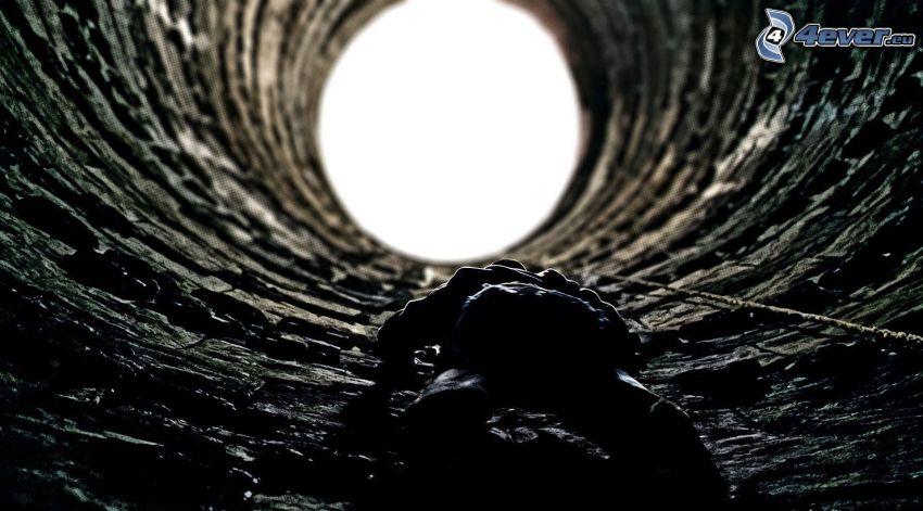 humain, puits