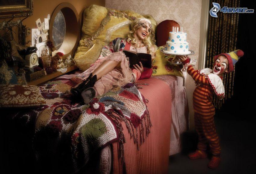 Britney Spears, bouffon, gâteau