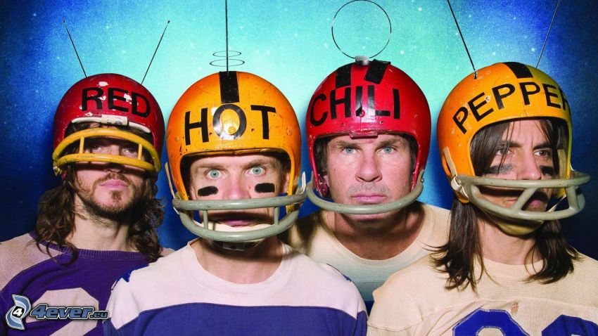 Red Hot Chili Peppers, casque