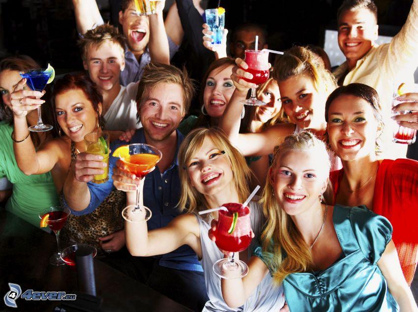 party, boissons mélangées, joie