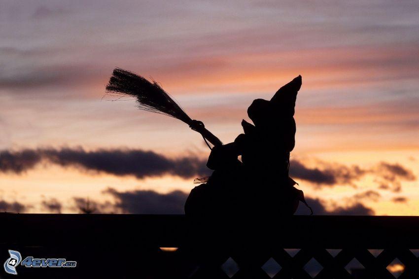 sorcière, ciel