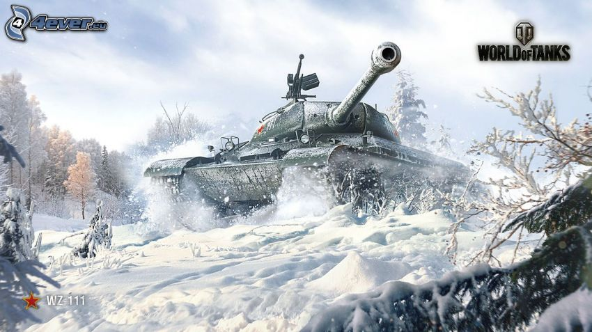 World of Tanks, char, neige