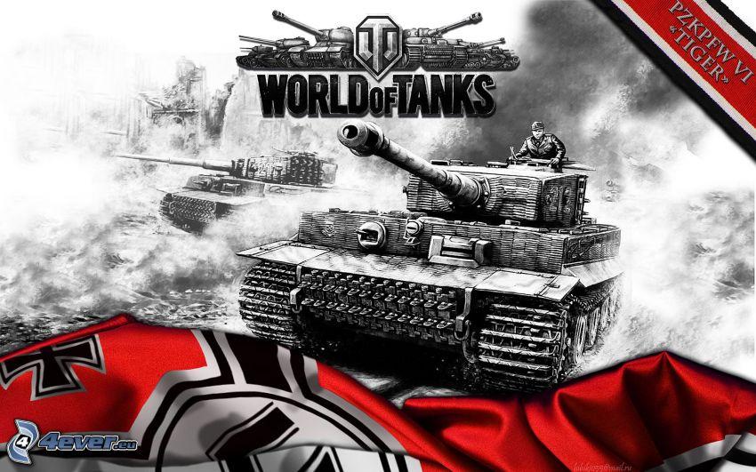 World of Tanks, Tiger, char, Wehrmacht