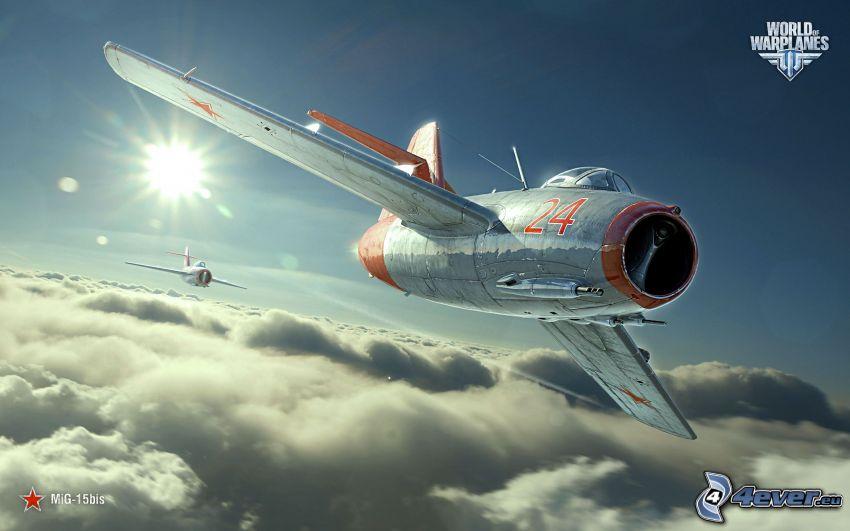 World of warplanes, MiG-15, au-dessus des nuages