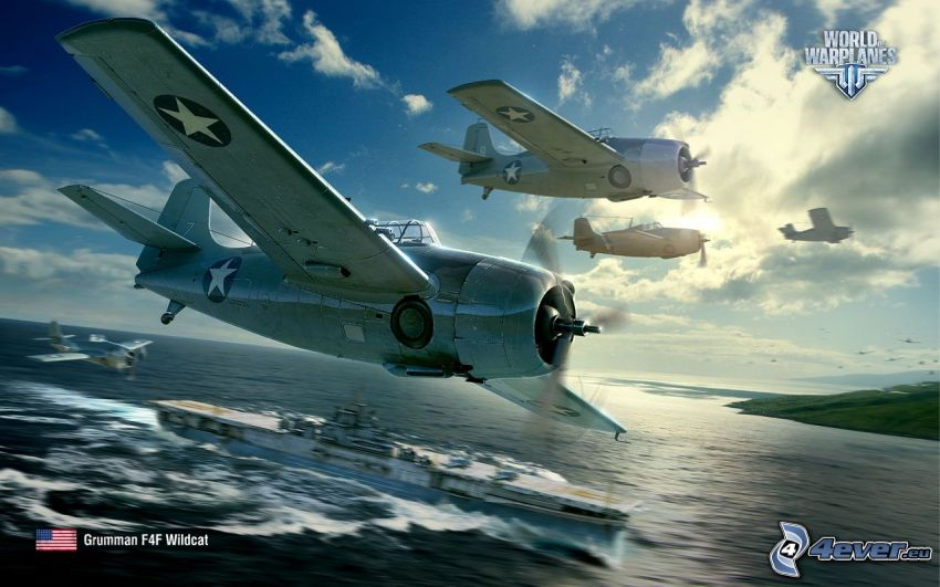World of warplanes, navire, ouvert mer