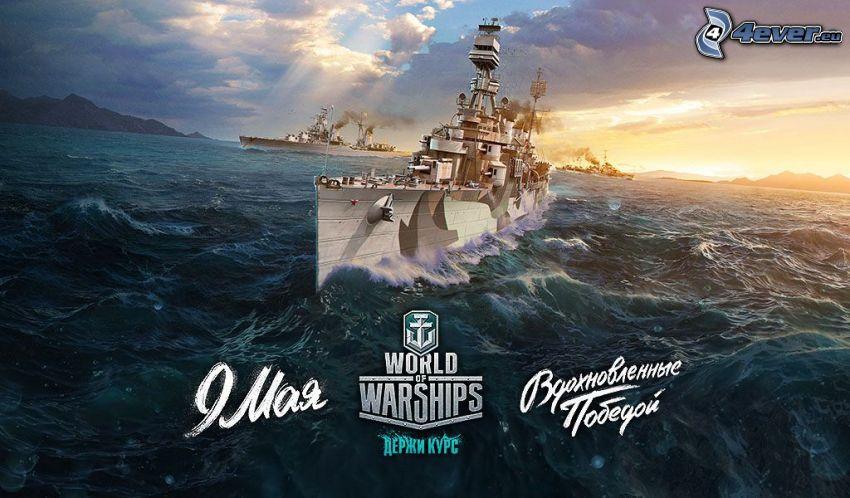 World of Warships, navires, mer