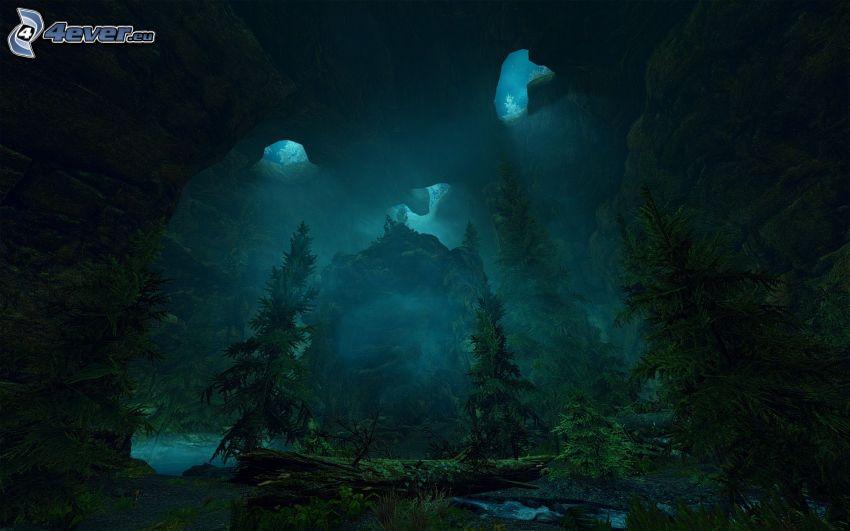 The Elder Scrolls Skyrim, forêt sombre