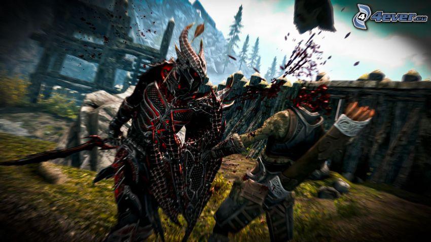 The Elder Scrolls Skyrim, guerrier sombre