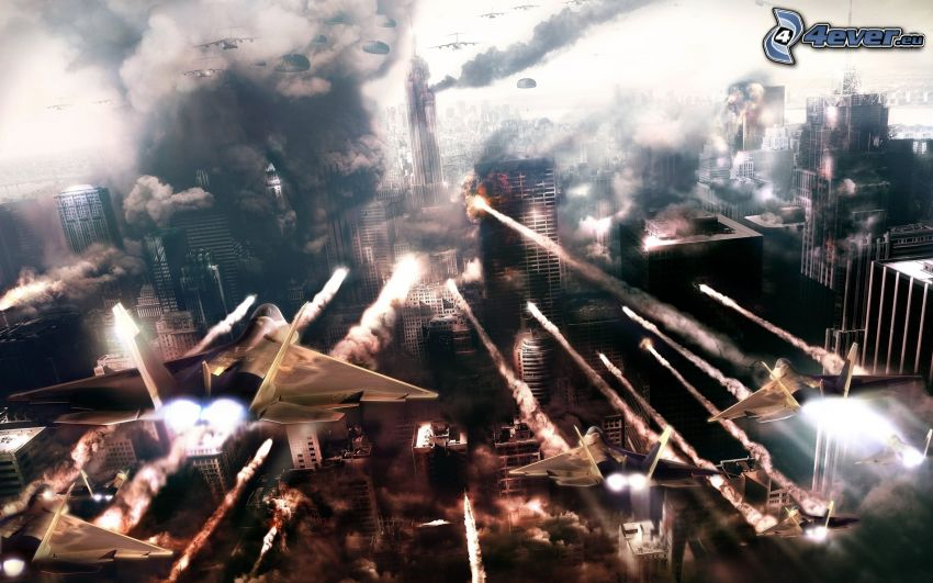World in Conflict, guerre, ville