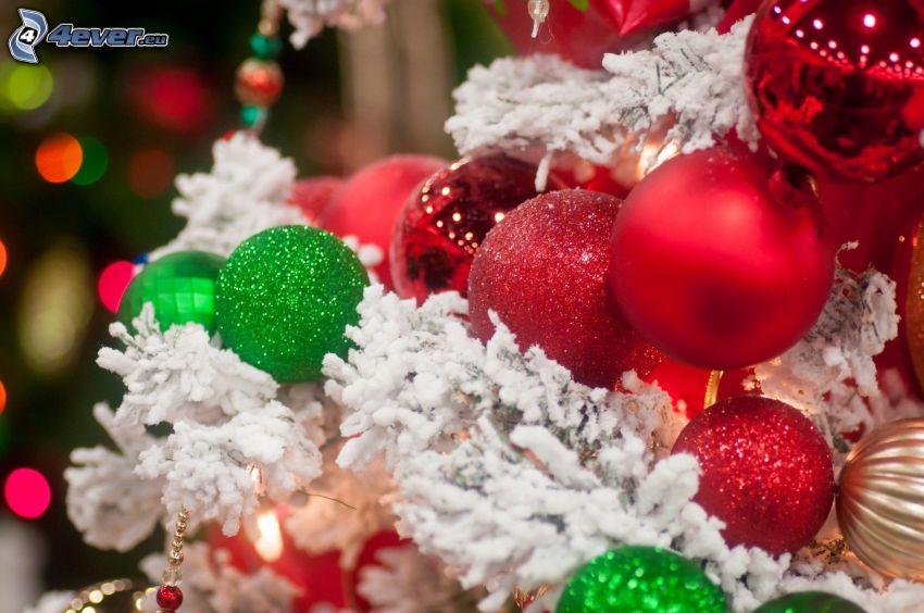 arbre de Noël, boules de Noël