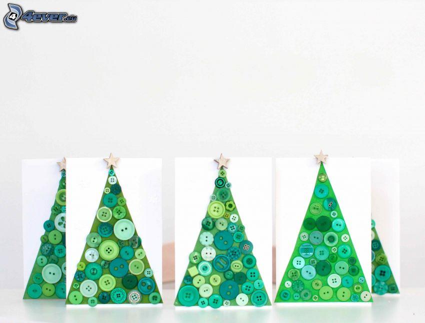 arbre de Noël, Boutons