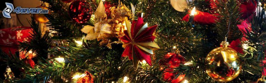 arbre de Noël, décorations de noël